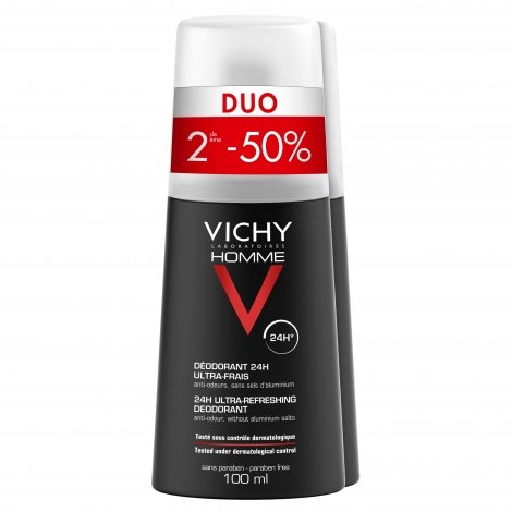 Vichy Déodorant 24H Ultra Frais Duo 2 x 100ml pas cher, discount