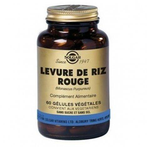 Solgar Levure de Riz Rouge 60 gélules végétales pas cher, discount