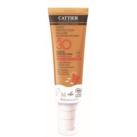Cattier Spray Protection Solaire Visage & Corps SPF30 125ml pas cher, discount