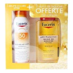 Eucerin Coffret Brume Solaire SPF50 200ml + Huile de douche 200ml OFFERTE