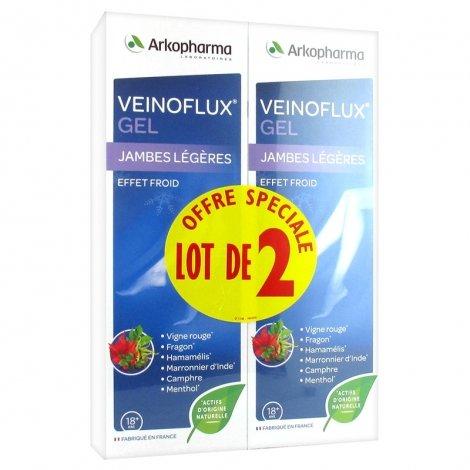 Arkopharma Duo Pack Veinoflux Gel Jambes Légères Effet Froid 2 x 150ml pas cher, discount