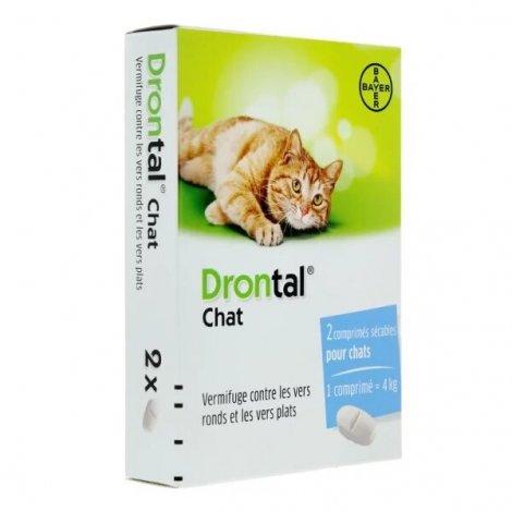 Drontal Chat 2 comprimés pas cher, discount