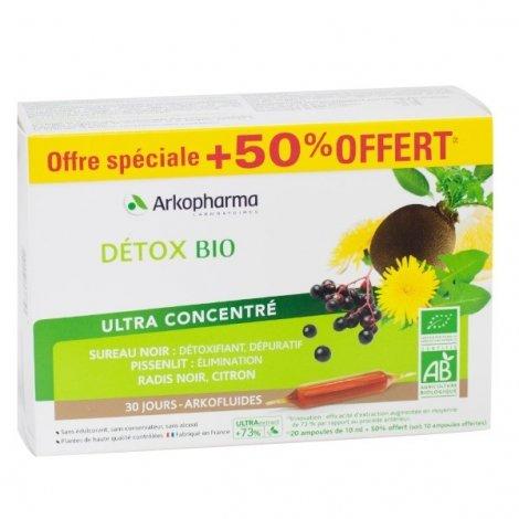 Arkopharma Arkofluides Détox Bio 30 ampoules pas cher, discount