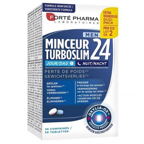 Forte Pharma Turboslim Minceur 24 Jour/Nuit Men 2x28 comprimés pas cher, discount
