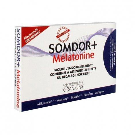 Granions Somdor+ Mélatonine 2x15 Comprimés pas cher, discount