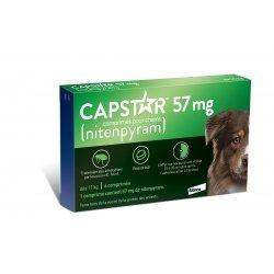 Capstar 57 mg Traitement des Infestations par les Puces Chiens de plus de 11 kg