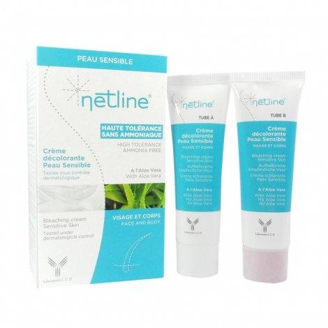 Netline Crème Décolorante Peau Sensible 2x30ml pas cher, discount
