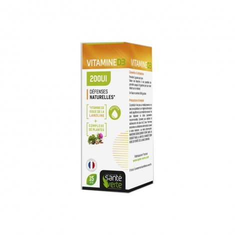 Santé Verte Vitamine D3 200UI 15ml pas cher, discount
