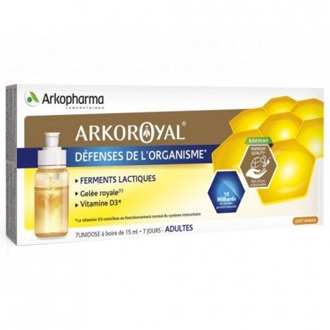 Arko Royal Gelée Royale + Ferments Lactiques + Vitamine D3 7 Unidoses à Boire pas cher, discount