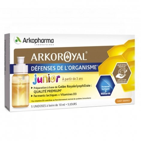 Arkopharma Arkoroyal Défenses de l'Organisme Junior 5x10ml pas cher, discount