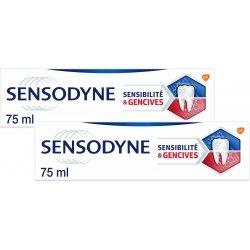 Sensodyne Dentifrice Sensibilité & Gencives Menthe Fraîche Lot de 2x75ml