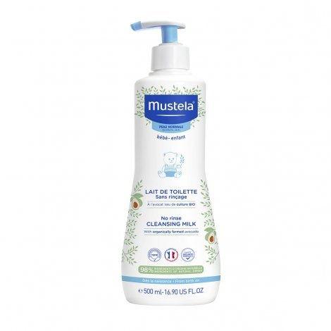 Mustela Bébé Lait de Toilette Sans Rinçage 500ml pas cher, discount