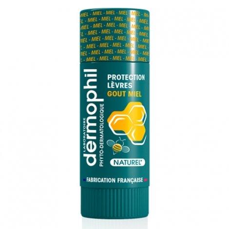 Dermophil Indien Stick Lèvres Protection Goût Miel 4g pas cher, discount