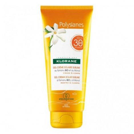 Klorane Polysianes Gel Crème Solaire Sublime SPF30 200ml pas cher, discount