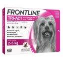 Frontline Tri-Act Solution pour Spot-On pour Chiens 2-5kg 6 pipettes