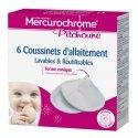 Mercurochrome Pitchoune Coussinets d'Allaitement Lavables & Réutilisables 6 pièces