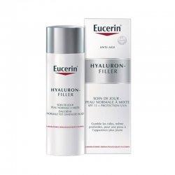 Eucerin Hyaluron-Filler Soin de Jour Comblement de Rides Peaux Normales à Mixtes 50 ml