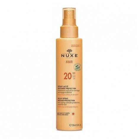 Nuxe Sun Spray Lacté Visage et Corps Moyenne Protection SPF20 150ml pas cher, discount