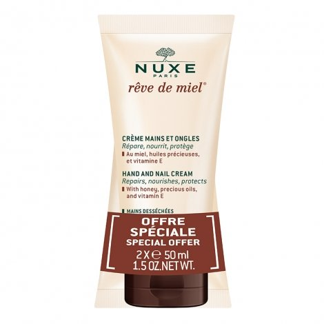 Nuxe Rêve De Miel Crème Mains Ongles 2x50ml pas cher, discount