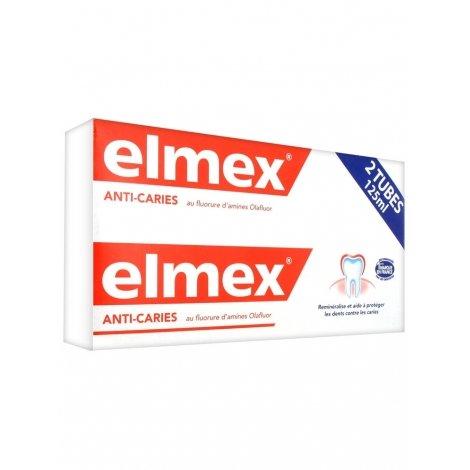 Elmex Dentifrice Anti-Caries 2x125ml pas cher, discount