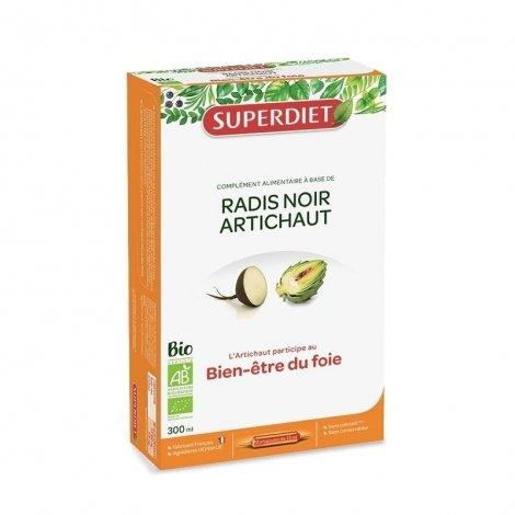Super Diet Radis Noir Artichaut Bien-être du Foie Bio 20 Ampoules de 15ml pas cher, discount