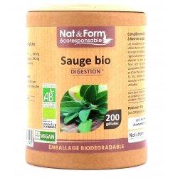 Nat & Form Ecoresponsable Sauge Digestion Bio 200 gélules