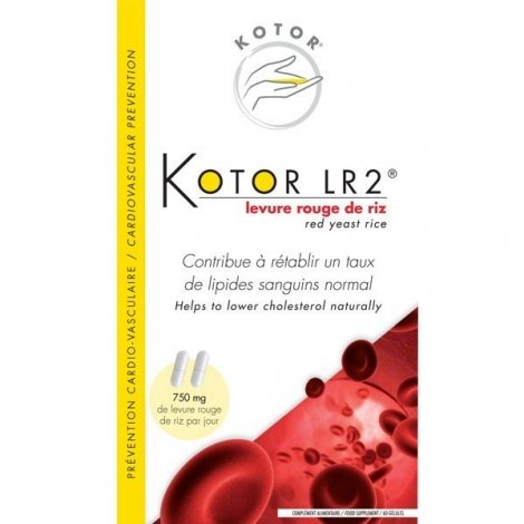 Kotor LR2 Levure de riz rouge 26,70 g pas cher, discount