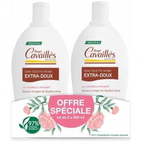 Rogé Cavailles Soin Toilette Intime Extra-Doux 2 x 500ml pas cher, discount