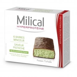 Milical Hyperprotéiné x6 Barres Minceur Saveur Pistache