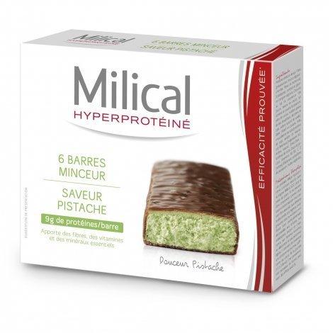 Milical Hyperprotéiné x6 Barres Minceur Saveur Pistache pas cher, discount