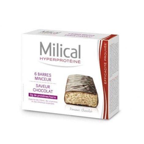 Milical Hyperprotéiné x6 Barres Minceur Saveur Chocolat  pas cher, discount
