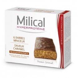 Milical Hyperprotéiné x6 Barres Minceur Saveur Caramel