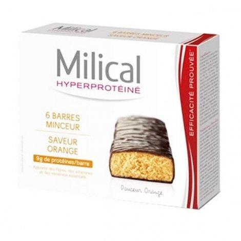 Milical Hyperprotéiné x6 Barres Minceur Saveur Orange pas cher, discount