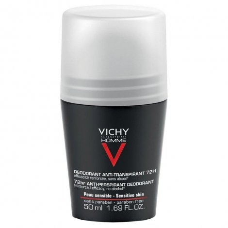 Vichy Homme Déodorant Anti-Transpirant 72H Roll On 50 ml pas cher, discount