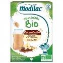 Modilac Bio Mes Céréales Bio Cacao Vanille Dès 12 mois 250g