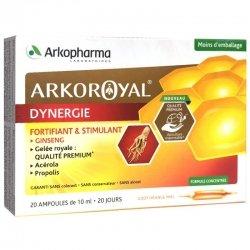 Arkopharma Arkoroyal Dynergie Fortifiant Stimulant Goût Orange & Miel 20 ampoules