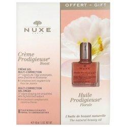 Nuxe Coffret Crème Prodigieuse Boost Crème Gel Multi-Correction 40ml + Huile Prodigieuse Florale 10ml OFFERTE