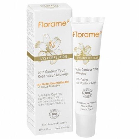 Florame Lys Perfection Soin Contour Yeux Réparateur Anti-âge Bio 15ml pas cher, discount