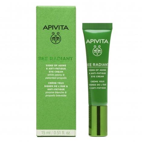 Apivita Bee Radiant Crème Yeux Signes de l'Âge & Anti-Fatigue 15ml pas cher, discount