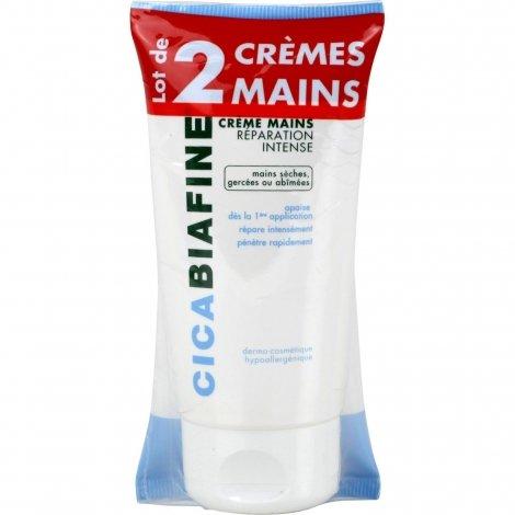 Cicabiafine Lot de 2 Crème Mains Réparation Intense 2x75ml pas cher, discount
