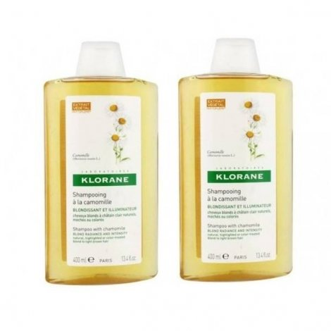 Klorane Capillaire Shampooing Camomille 400 ml 1 acheté 1 offert pas cher, discount