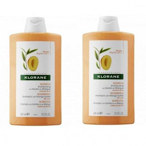 Klorane Shampooing Mangue 400ml 1 acheté 1 offert pas cher, discount
