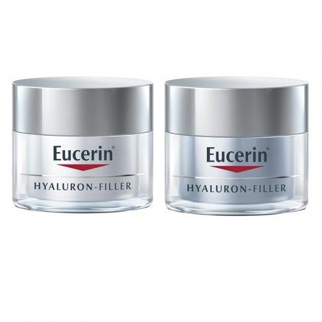 Eucerin Pack Routine Hyaluron-Filler Crème de Jour 50ml + Crème de Nuit 50ml pas cher, discount