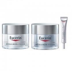Eucerin LOT de Hyaluron-Filler Soin de Jour 50 ml + Crème nuit 50ml + Crème yeux 15ml