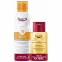 Eucerin Sun Protection Sensitive Protect Brume Transparente SPF50 200ml + PH5 Huile de Douche 100ml OFFERTE