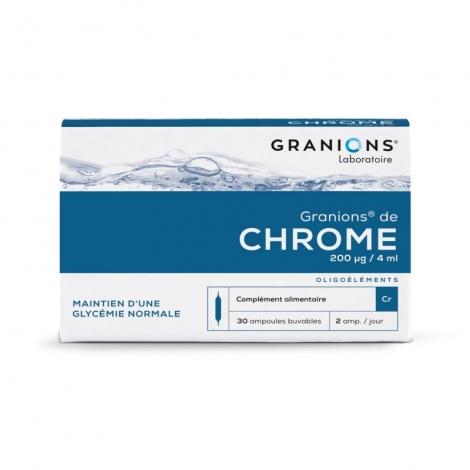 Granions De Chrome 200 µg 30 Ampoules pas cher, discount