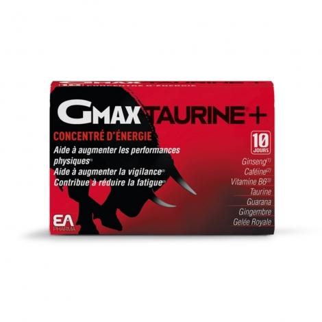Gmax Taurine +  Concentré d'Énergie 30 ampoules de 2ml pas cher, discount