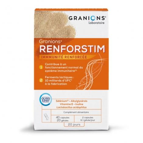 Granio+ Renforstim 40 Capsules et 20 Gélules pas cher, discount
