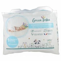 Green Tribu Couches Écologiques Bébé Nouveau Né Taille 1 30 pièces