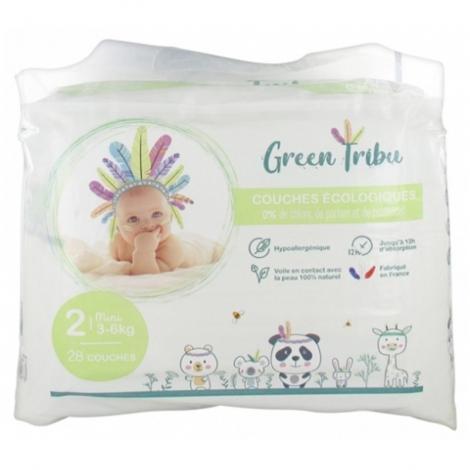 Green Tribu Couches Écologiques Bébé Mini Taille 2 28 pièces pas cher, discount